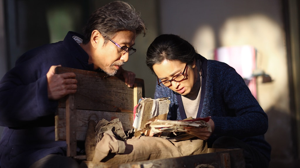 Chen Daoming och Gong Li i Hemkomsten. Foto: TriArt Film.