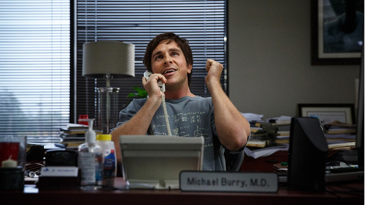 Christian Bale i The Big Short. Foto: UIP.