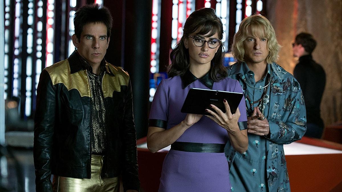 Ben Stiller, Penélope Cruz och Owen Wilson i Zoolander 2. Foto: UIP.