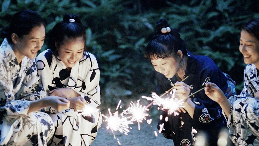 De fyra systrarna i den japanska filmen Systrarna. Foto: TriArt.