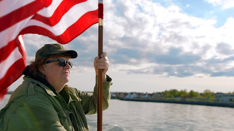 Michael Moore i Where to invade next. Foto: Scanbox Entertainment.