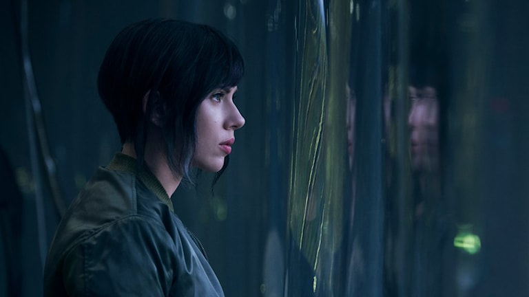 Scarlett Johansson i Ghost in the shell. Foto: Paramount Pictures.