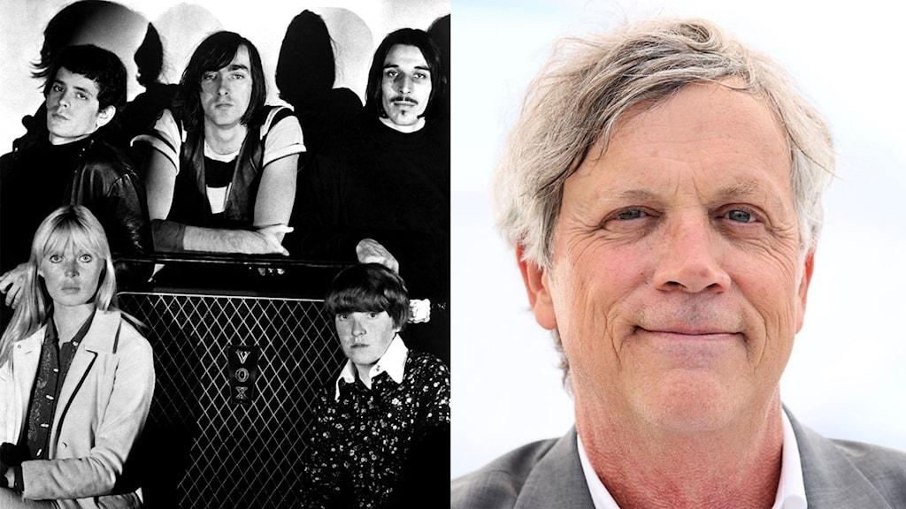 Bild på Velvet Underground och regissören Todd Haynes.
