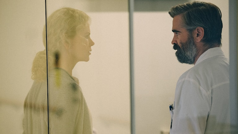 Nicole Kidman och Colin Farrell i Killing of a sacred deer. Foto: Scanbox Entertainment.