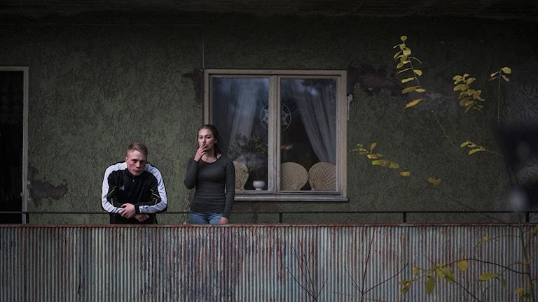 Sebastian Ljungblad och Cornelia Andersson i Goliat. Foto: TriArt.