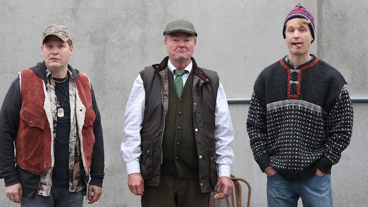 Henrik Dorsin, Peter Dalle och Björn Gustafsson i Lyrro. Foto: Nordisk Film.