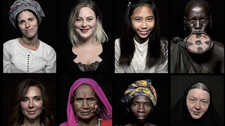Några av kvinnorna som medverkar i filmen Woman.