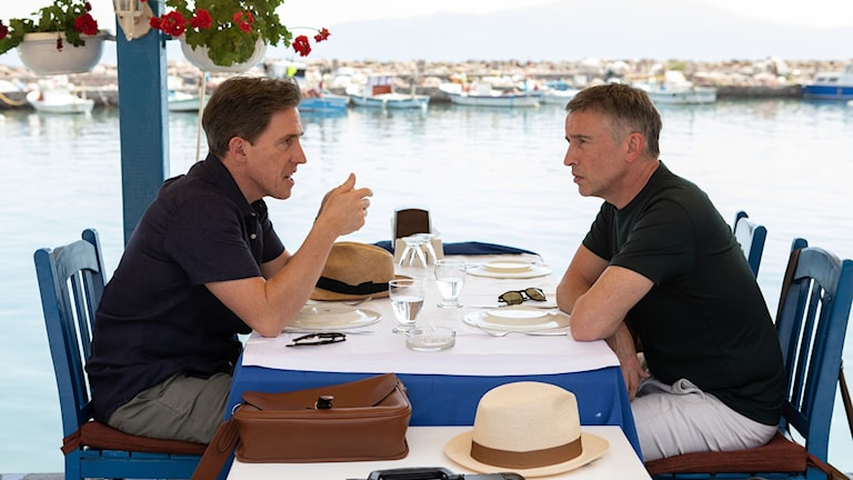 "Rob Brydon and Steve Coogan i ""The Trip to Greece""."