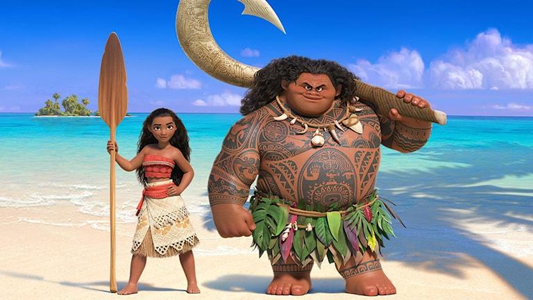 Moana och Maui i Vaiana. Foto: Disney.