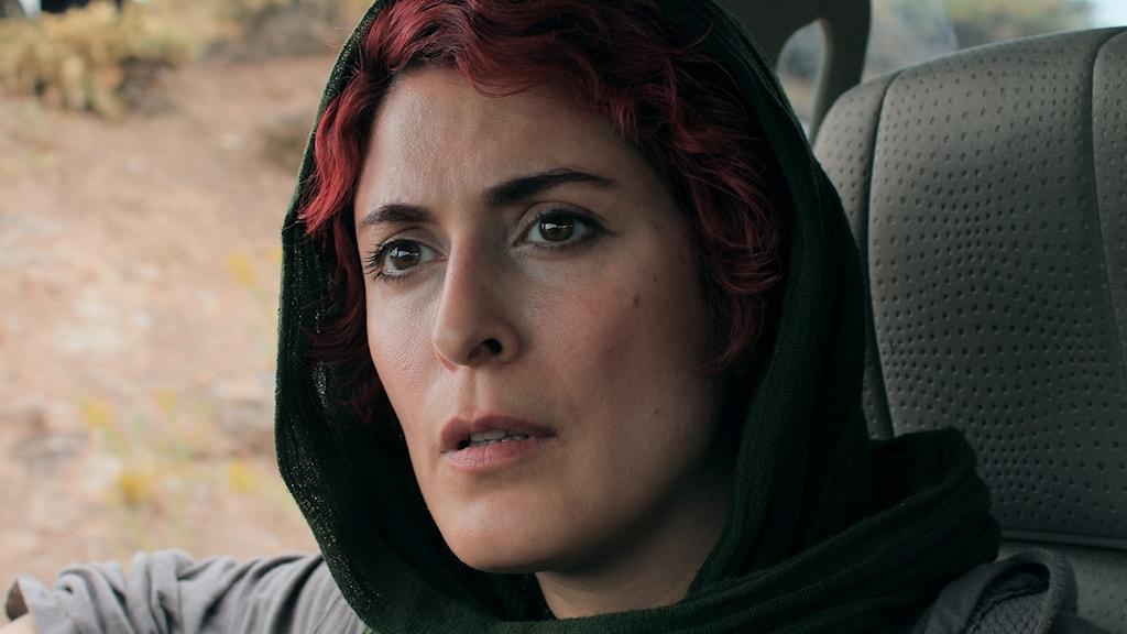 Behnaz Jafari spelar huvudrollen, som sig själv i Jafar Panahis 3 Kvinnor. Foto: Folkets Bio.