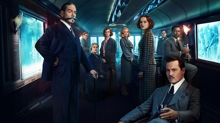 Stjärnorna på tåget i Mordet på Orientexpressen. Foto: Fox Movies.