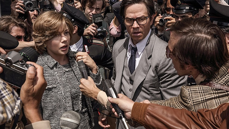 Michelle Williams och Mark Wahlberg i All the money in the world. Foto: SF Studios.