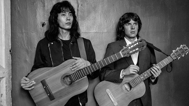 Det hoppfulla unga bandet Kino i filmen Leto. Foto: TriArt.