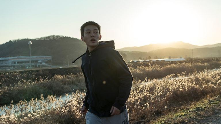 Ah-in Yoo som Jongsu i Bränd. Foto: Folkets Bio.