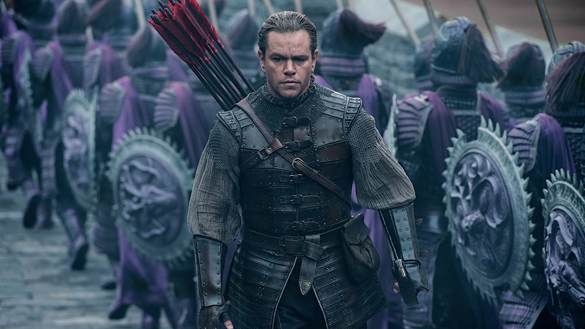 Matt Damon i The great wall. Foto: UIP.