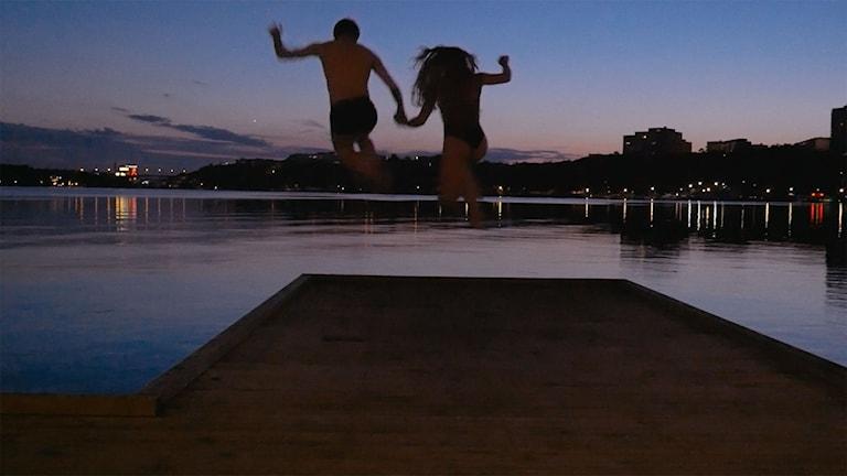 Edvin och Naomi i dokumentären Parning. Foto: TriArt.