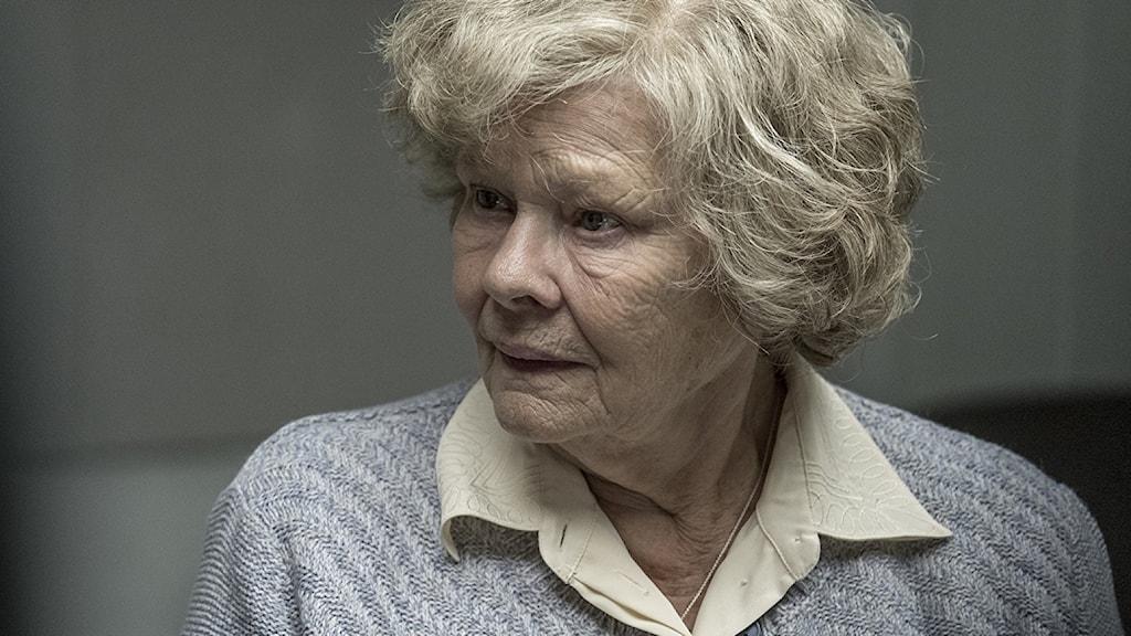 Judi Dench spelad Joan Stanley på äldre dar i filmen Red Joan.