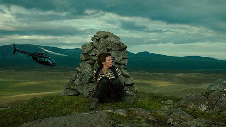 Halldóra Geirharðsdóttir i isländska filmen Woman at War. Foto: Scanbox Entertainment.
