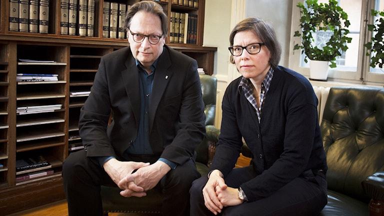 Horace Engdahl och Lena Andersson. Foto: Sveriges Radio.