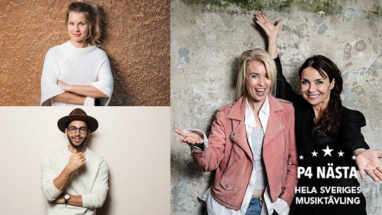 Annika Jankell, Linda Sundblad programledare P4 Nästa 2017 och Darin och Pernilla som gästartister.