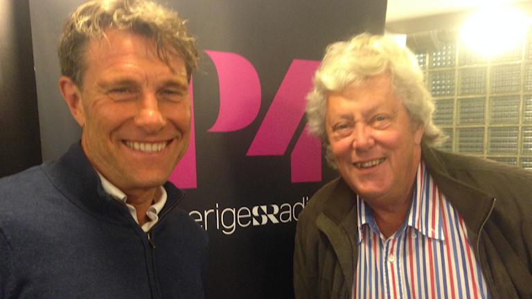 Håkan Ericson förbundskaptenen som tog hem EM guld. Här med Ulf Elfving.