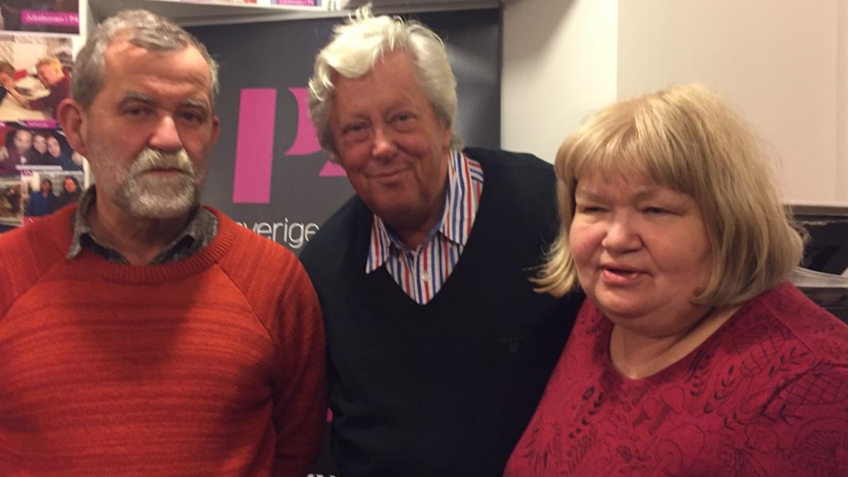 Pelle och Ingrid Holberg tillsammans med Ulf Elfving.