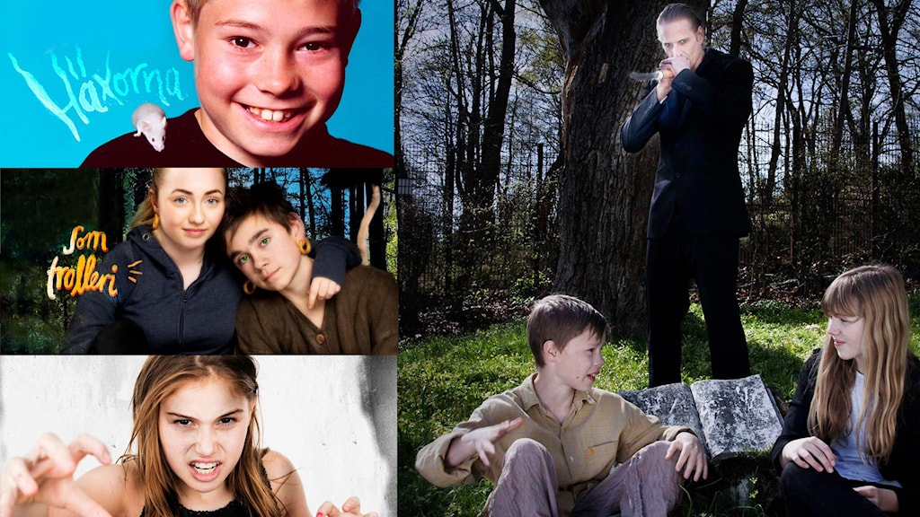 Flera pjäser från Unga radioteatern. Foton: Sveriges Radio