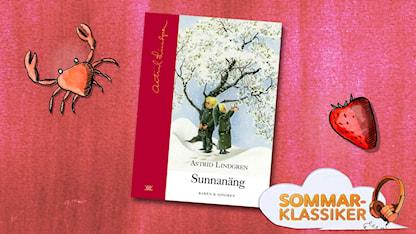 Omslag Sunnanäng, illustration med logga och texten Sommarklassiker.  SR.Web.CssMapping.CssClass