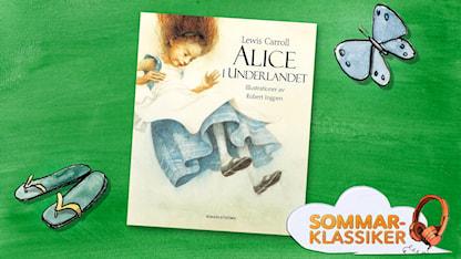 Omslagsbild av Alice i underlandet med logga för Sommarklassiker. SR.Web.CssMapping.CssClass