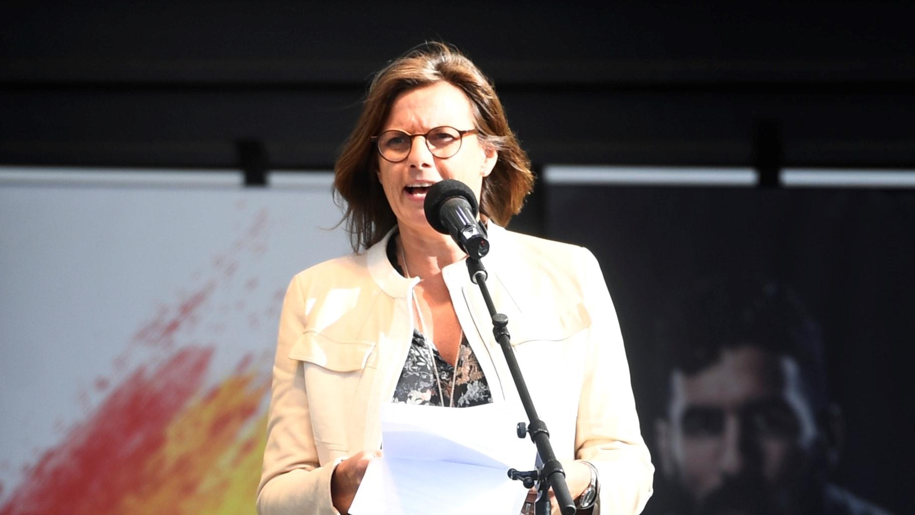 Isabella Lövin (MP) talar i Almedalen
