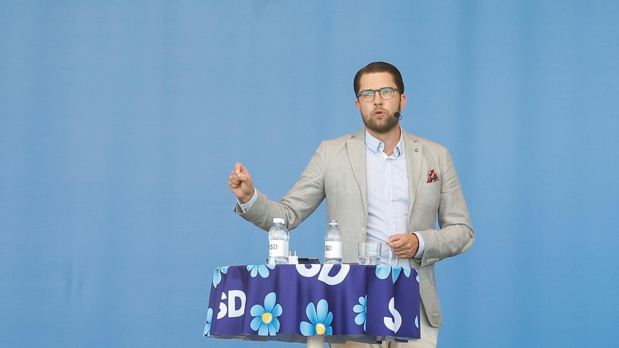Jimmie Åkesson (SD) talar i Almedalen 2018