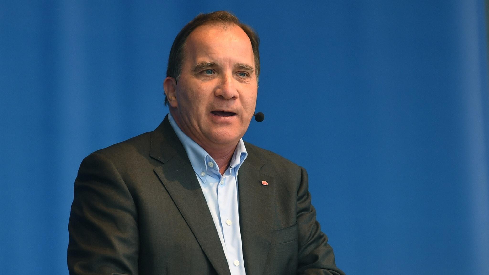 Stefan Löfven (S) talar i Almedalen 2018