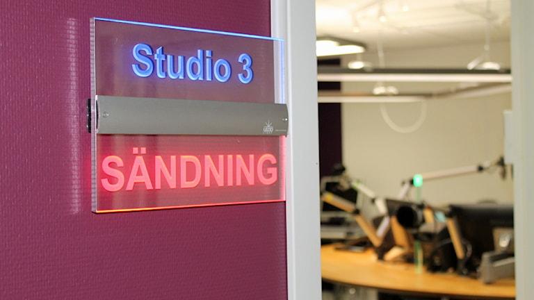 Sändning pågår. Foto: David Westh/Sveriges Radio/Sveriges Radio.