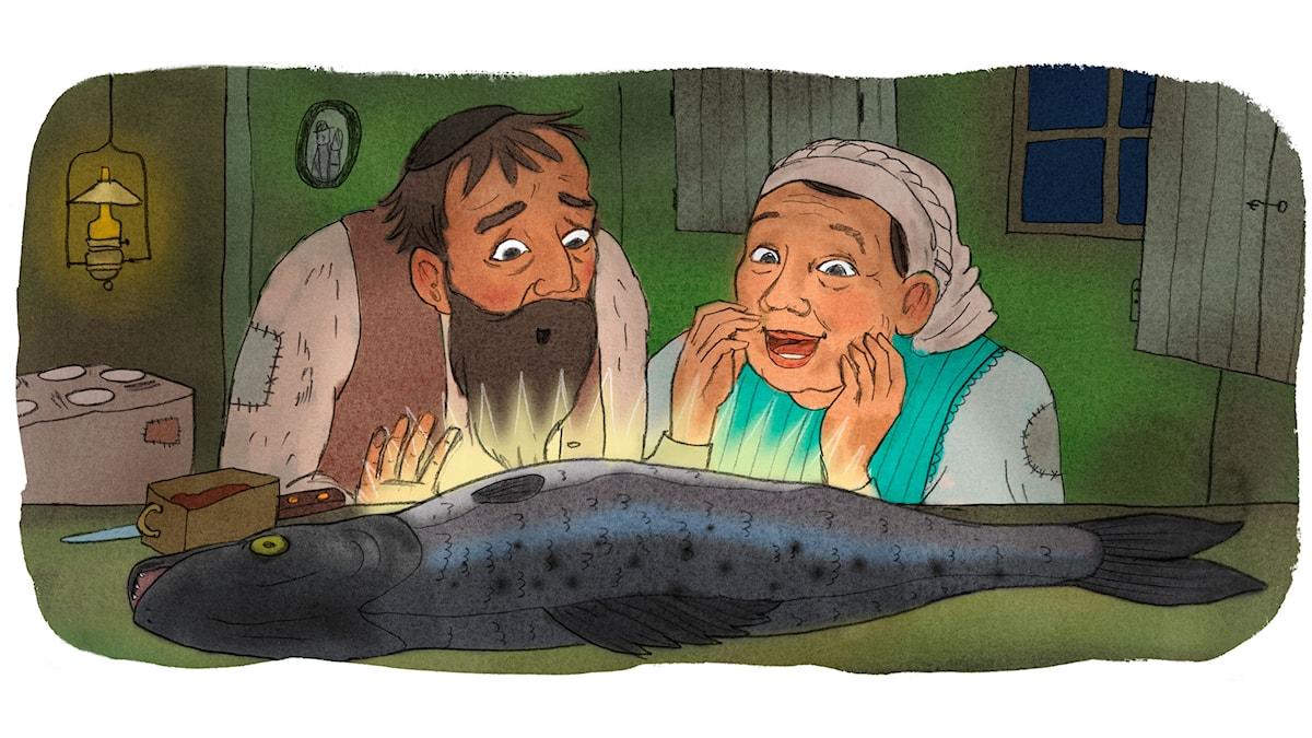 Yankel och hans fru (Bild: Ingrid Flygare)