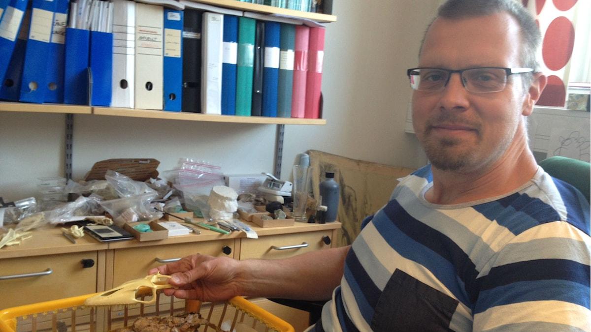 Johan Lindgren, Sveriges enda mosasaurieforskare. Foto: Lena Nordlund/Sveriges Radio
