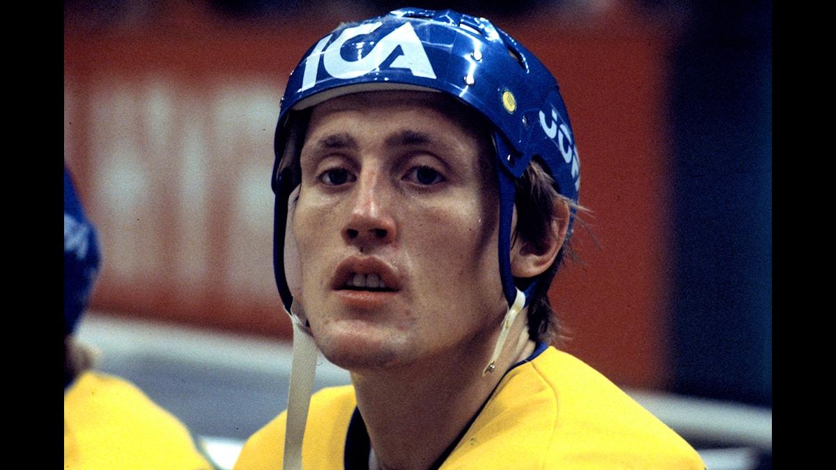En mindre ärrad Börje Salming, i landslaget 1975. Foto: Leif R Jansson/TT