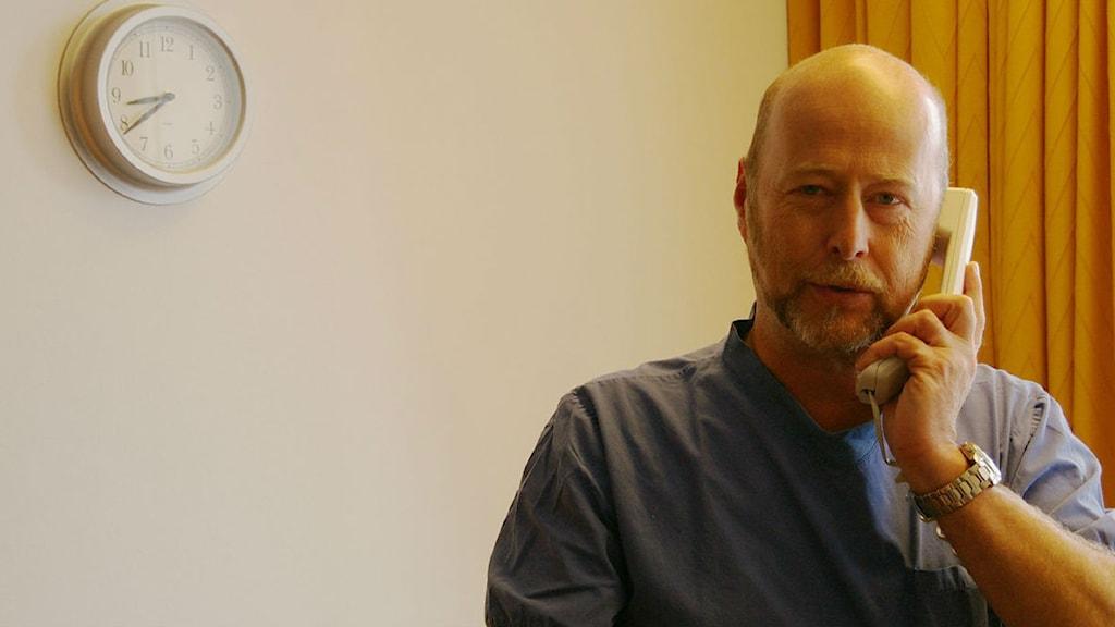 Gunnar Kratz, professor i plastikkirurgi, Linköpings universitet. Foto: Per Helgesson/Sveriges Radio