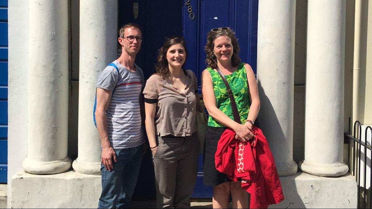 Alice Guilly forskar om romantiska komedier och vi träffar henne utanför den blå dörren från filmen Notting Hill.