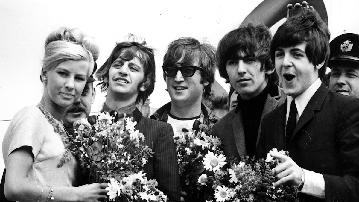 The Beatles i Stockholm 1964. Foto: SVT Bild.