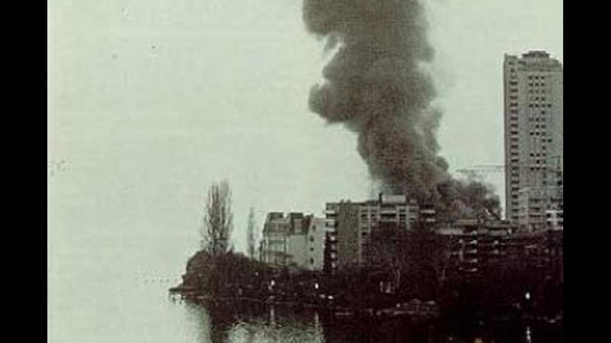 Casinot i Montreaux brinner 1971.