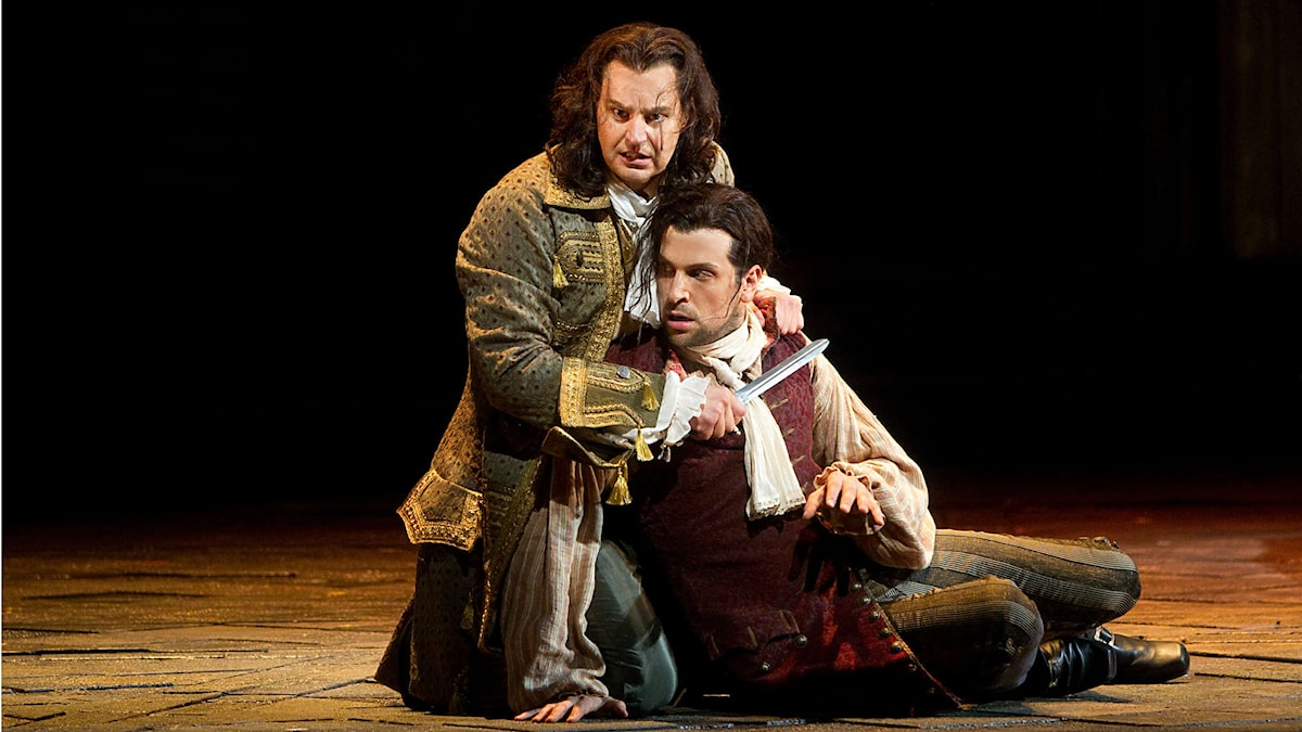 Peter Mattei och Luca Pisaroni i Don Giovanni på Metropolitan Opera i New York 2015. Foto: Marty Sohl, Metropolitan Opera