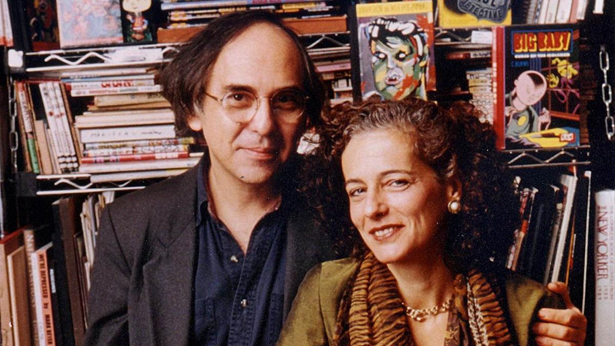 Art Spiegelman och hans fru Francoise Mouly.