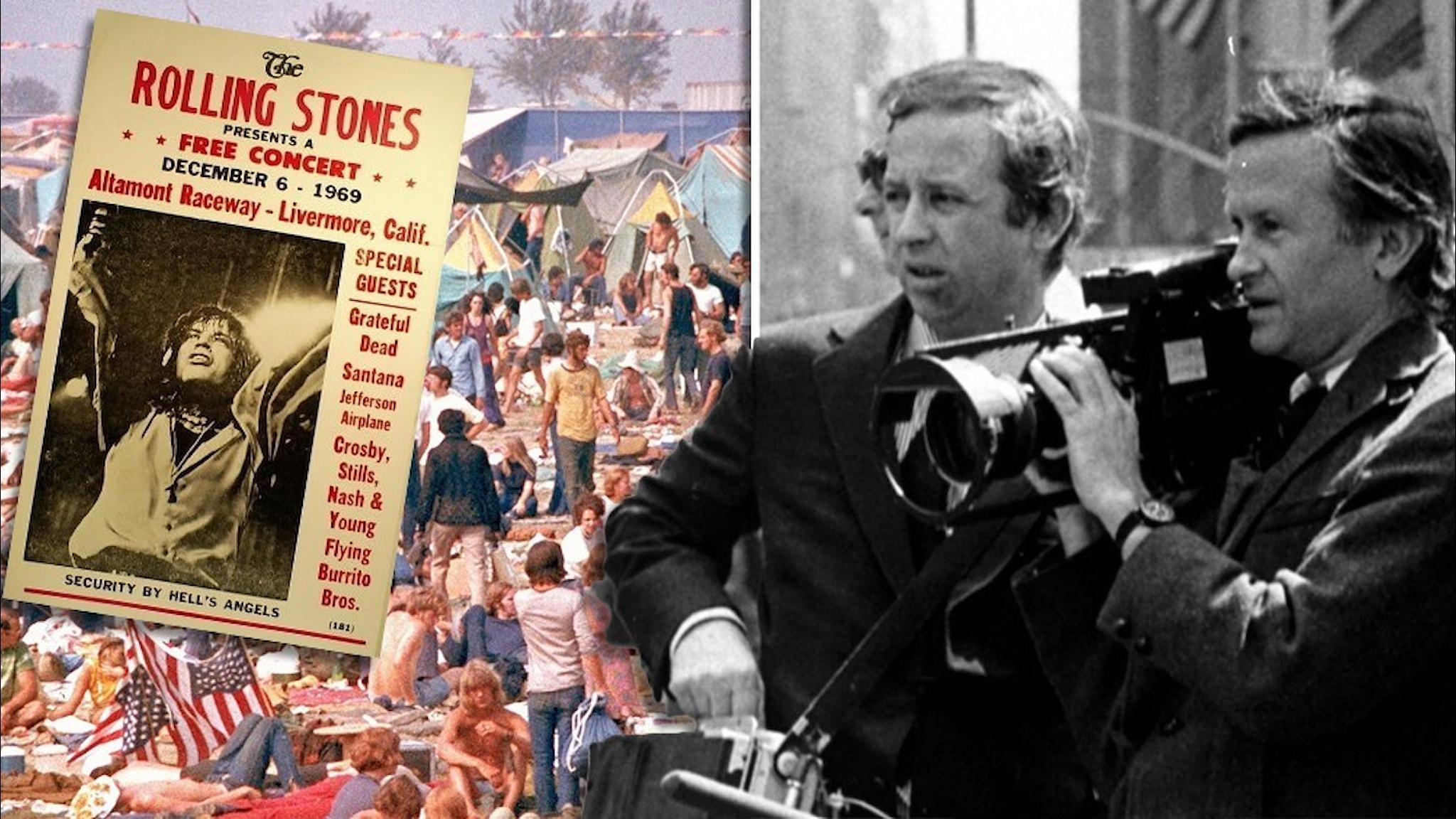 Altamontpubliken, affischen och bröderna Maysles