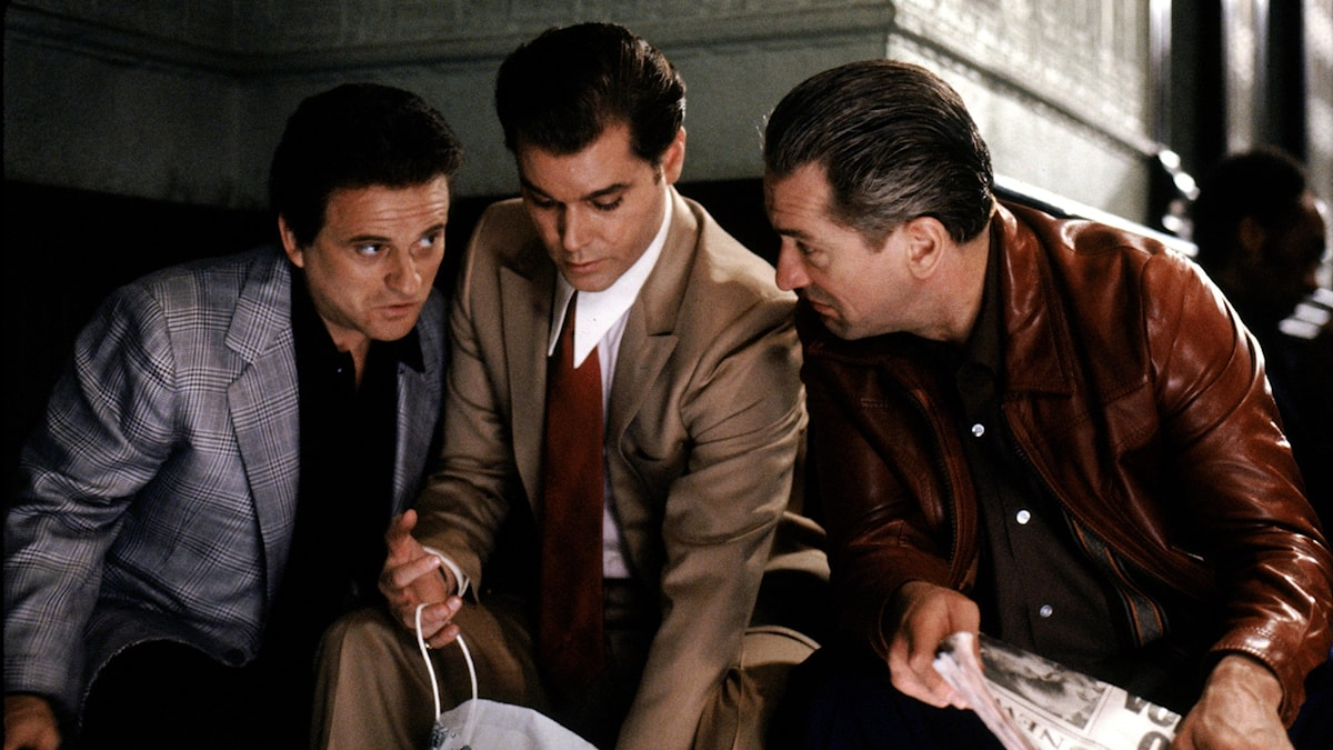 Joe Pesci, Ray Liotta och Robert De Niro i Maffiabröder