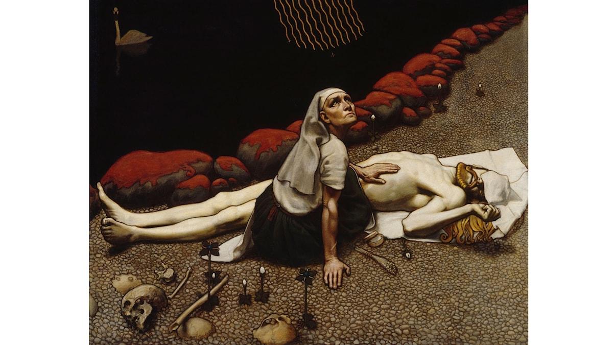 Lemminkäinens moder av Akseli Gallen-Kallela, Finnish National Gallery, Stories of Finnish Art exhibition.