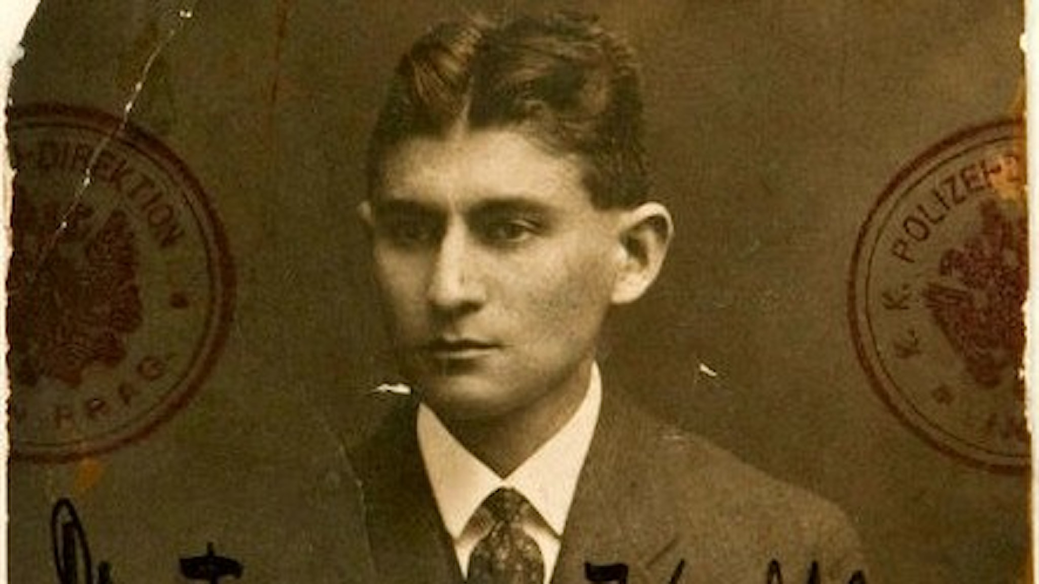 Porträtt av Franz Kafka 1915