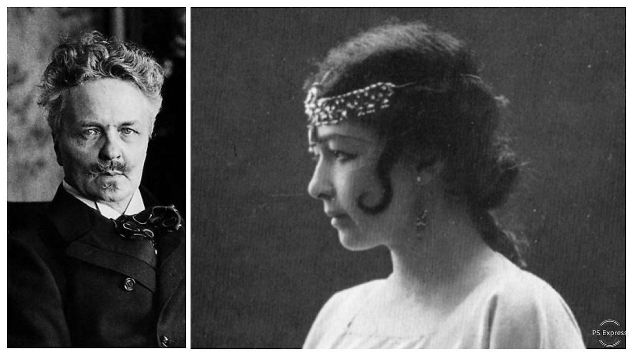 August Strindberg och Harriet Bosse