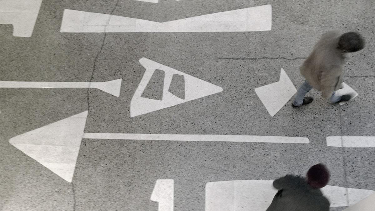 Shopping, Ljusgårdens golv ritat av Ralph Erskine.