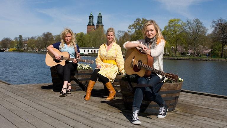Linda Ström, Frida Öhrn och Charlotte Centervall är Cookies´n Beans. Foto: Pia Lindhe Rudolf