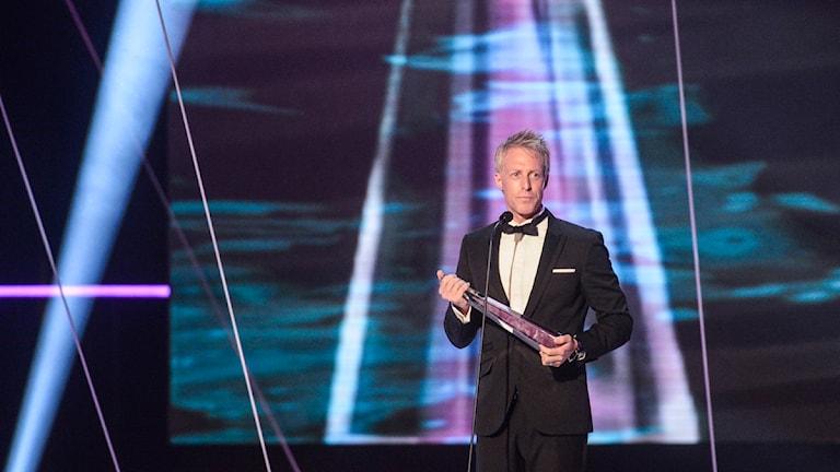 André Pops leder årets Kristallengala tillsammans med Gina Dirawi. Foto: Leif R Jansson / Scanpix